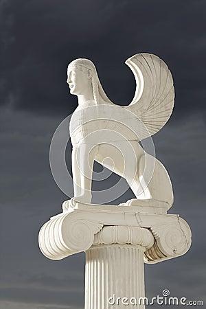 Sphinx statue in Greece