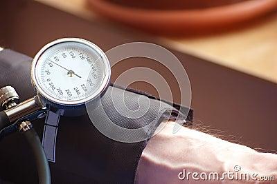 Sphygmomanometer indicating the  blood pressure