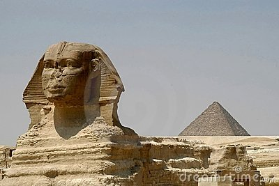 Sphynx and Chefren pyramid