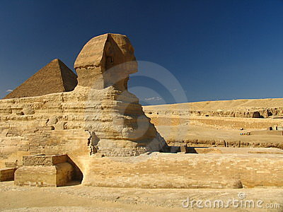 Sphynx with Great Pyramid