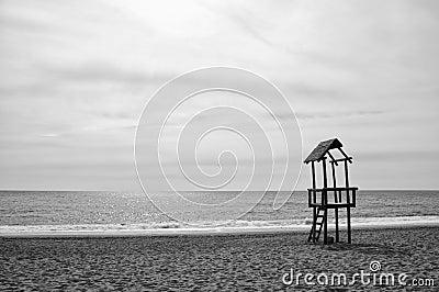 Spiaggia in bianco e nero immagine stock libera da diritti for Planimetrie della cabina della spiaggia