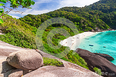 Spiaggia idilliaca delle isole di Similan