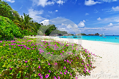 Spiaggia tropicale in Tailandia