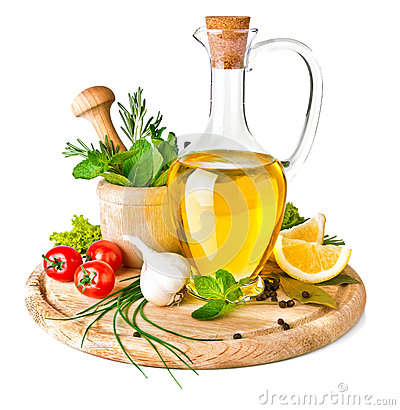 Free Spice And Herbs With Olive Oil Stock Photos - 28576013