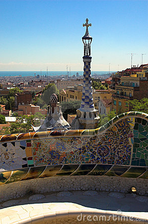 Free Spice-cake Houses In Park Guell By Antoni Gaudi Royalty Free Stock Image - 2088736