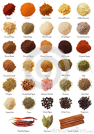 Free Spice Collection Royalty Free Stock Images - 33895819