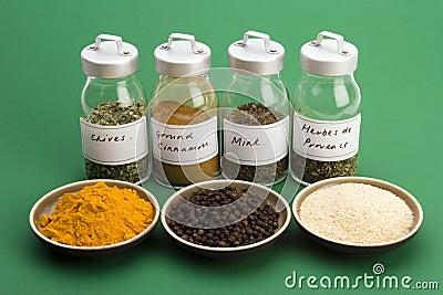 Spice Jars wih Spice bowls