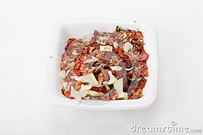 Spice mixture for soup closeup