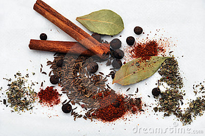 Spice poured out and mixed