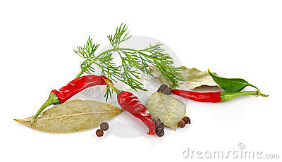 Spice relish and greenery
