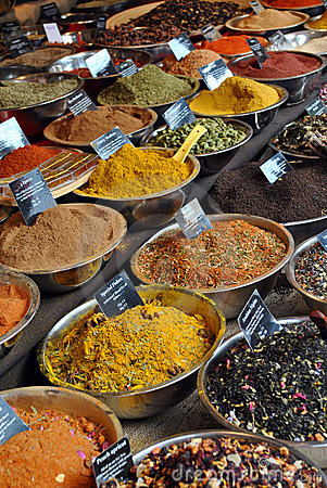 Free Spice Shop Royalty Free Stock Photos - 17513548