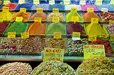 Spice and tea shop in Egyptian Spice Bazaar