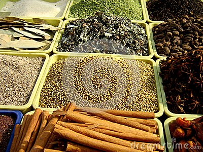 Spices Arranged Royalty Free Stock Images - Image: 13937129