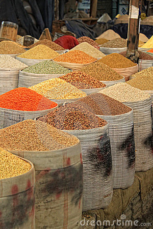 Spices and beans market