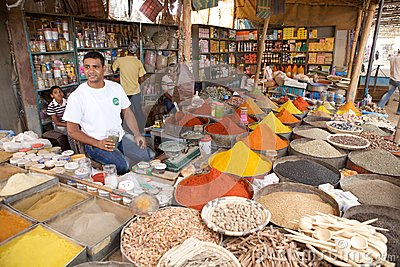 Spices and herbs vendor Editorial Image