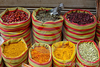 Spices on market