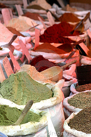 Spices on a market