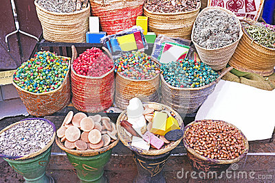 Spices at the market of Marrakesh, Morocco