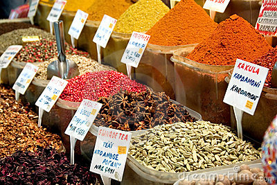 Spices in market place