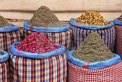 Spices at the market in the souk