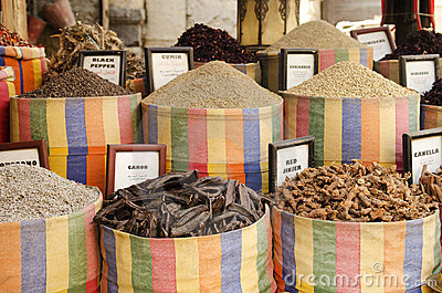 Spices in middle east market cairo egypt