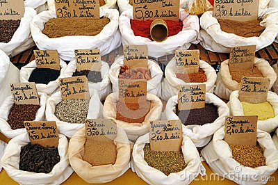 Spices mix, French farmers market