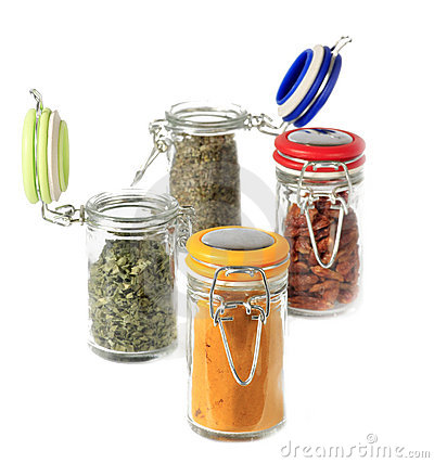 spices mix in jars
