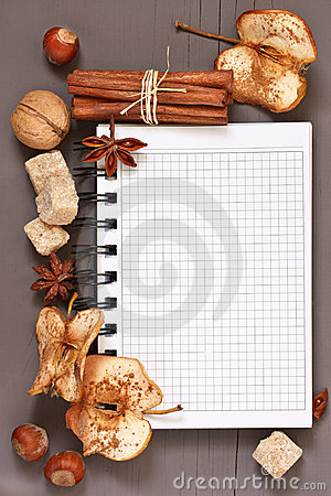 Spices notebook.