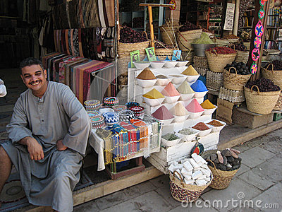 Spices seller at the Souk. Egypt Editorial Stock Image