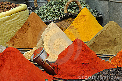 Spices Shop In Fes, Morocco Royalty Free Stock Image - Image: 7588906
