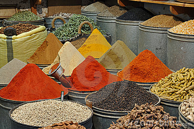 Spices shop in Morocco