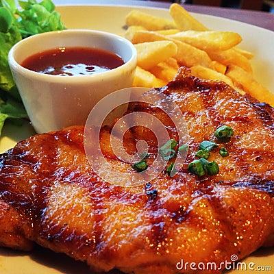 Spicy chicken steak