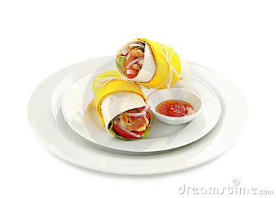 Spicy Chicken Wrap Royalty Free Stock Images - Image: 18776059