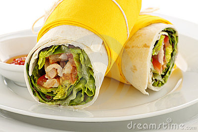 Spicy Chicken Wraps