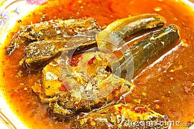 Spicy chili fish ramp