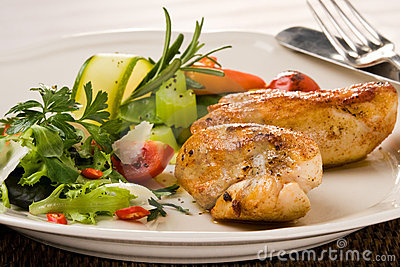 Spicy grilled chicken breast