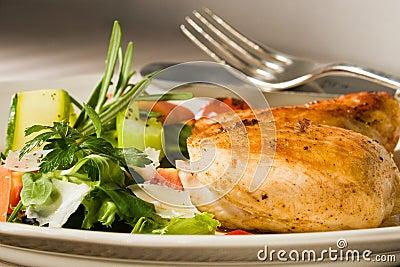 Spicy grilled chicken breast
