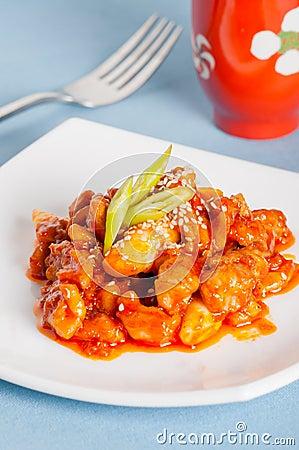 Spicy korean barbecue also known as Hanmari