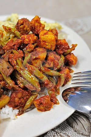 Spicy Malay set meal