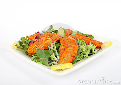 A spicy summer starter, lemon chicken salad
