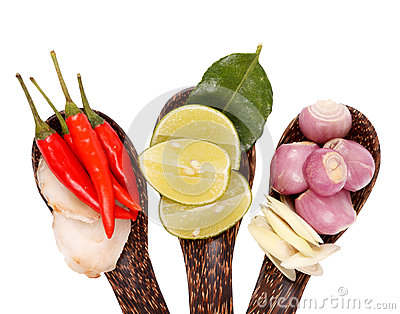Spicy Thai food ingredients