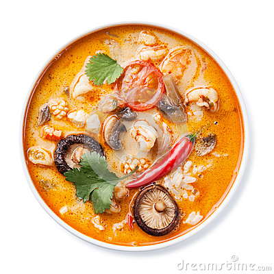 Free Spicy Thai Soup Tom Yam Stock Photography - 37963172