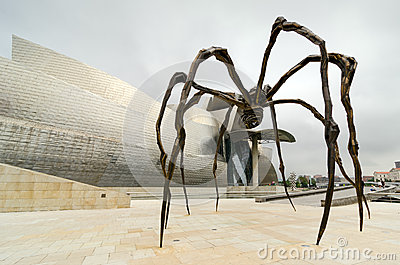 Spider. Bilbao Editorial Image
