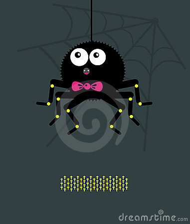 Spider with a bow A