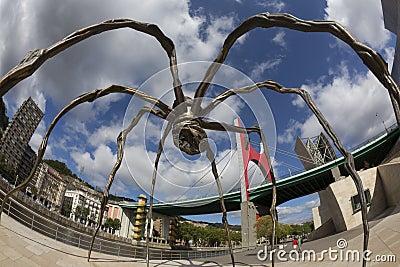 Spider - Guggenheim - Bilbao - Spain Editorial Stock Photo