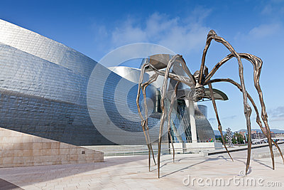 Spider at the Guggenheim Museum Bilbao Editorial Image