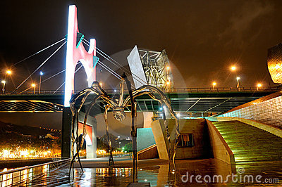 The Spider Maman at Guggenheim Bilbao Editorial Photography
