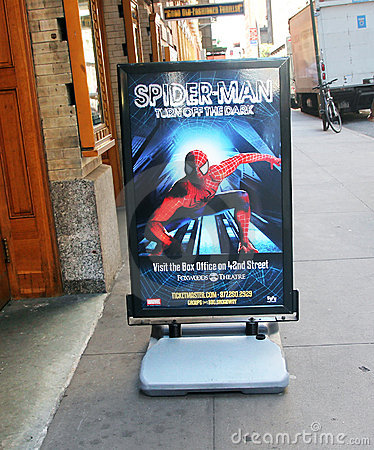 Spider-Man on Broadway. Editorial Photography