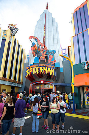 Spider-Man at Universal Studios Orlando Editorial Photography
