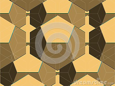 Spider Net Line Geometric Brown Kaleidoscope Vector
